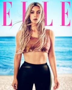 Kim Kardashian Elle Magazine Cover