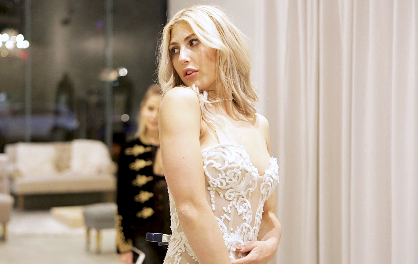 Dwts Pro Emma Slater Tries On Wedding Dresses Watch