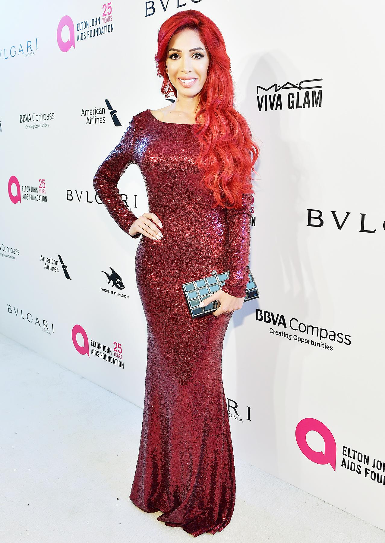 Farrah Abraham Attends Elton John Oscars 2018 Party