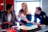Angela Bassett, Connie Britton and Oliver Stark on 9-1-1