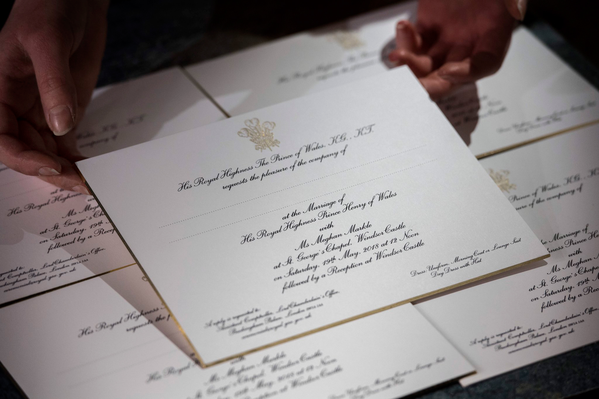 Prince harry and meghan markles wedding everything we know so far the invitations stopboris Image collections