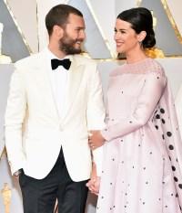 Celebrity Oscars PDA Jamie Dornan Amelia Warner