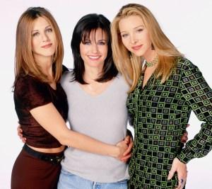 Jennifer Aniston, Courteney Cox, Lisa Kudrow, Friends Reunion, Group Chain