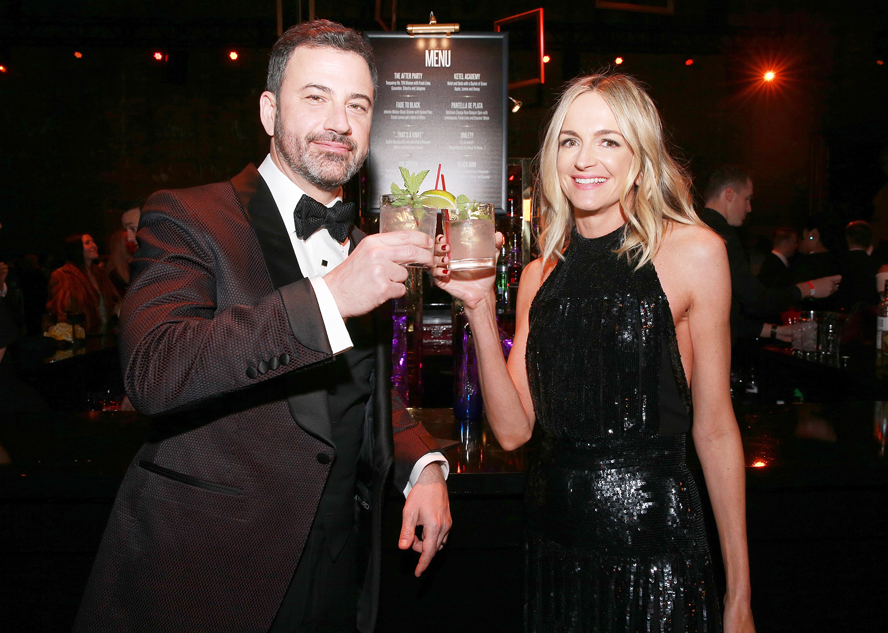 Jimmy Kimmel Molly McNearney Oscars 2018 after party