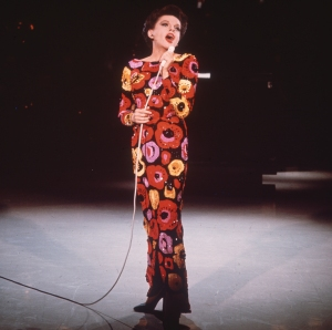 Judy Garland on stage.