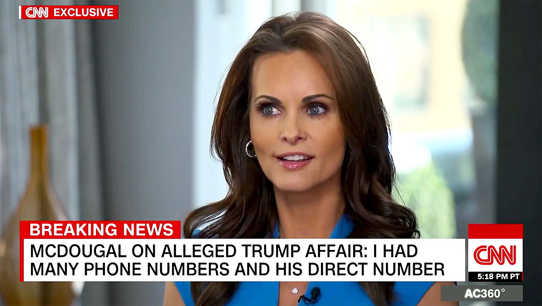Ex-Playboy model gives emotional account of alleged affair with Donald Trump