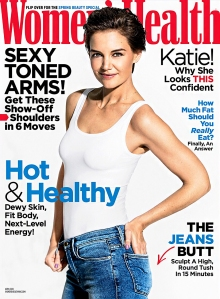 Katie Holmes Women's Health Cover