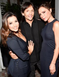Eva Longoria, Ken Paves and Victoria Beckham