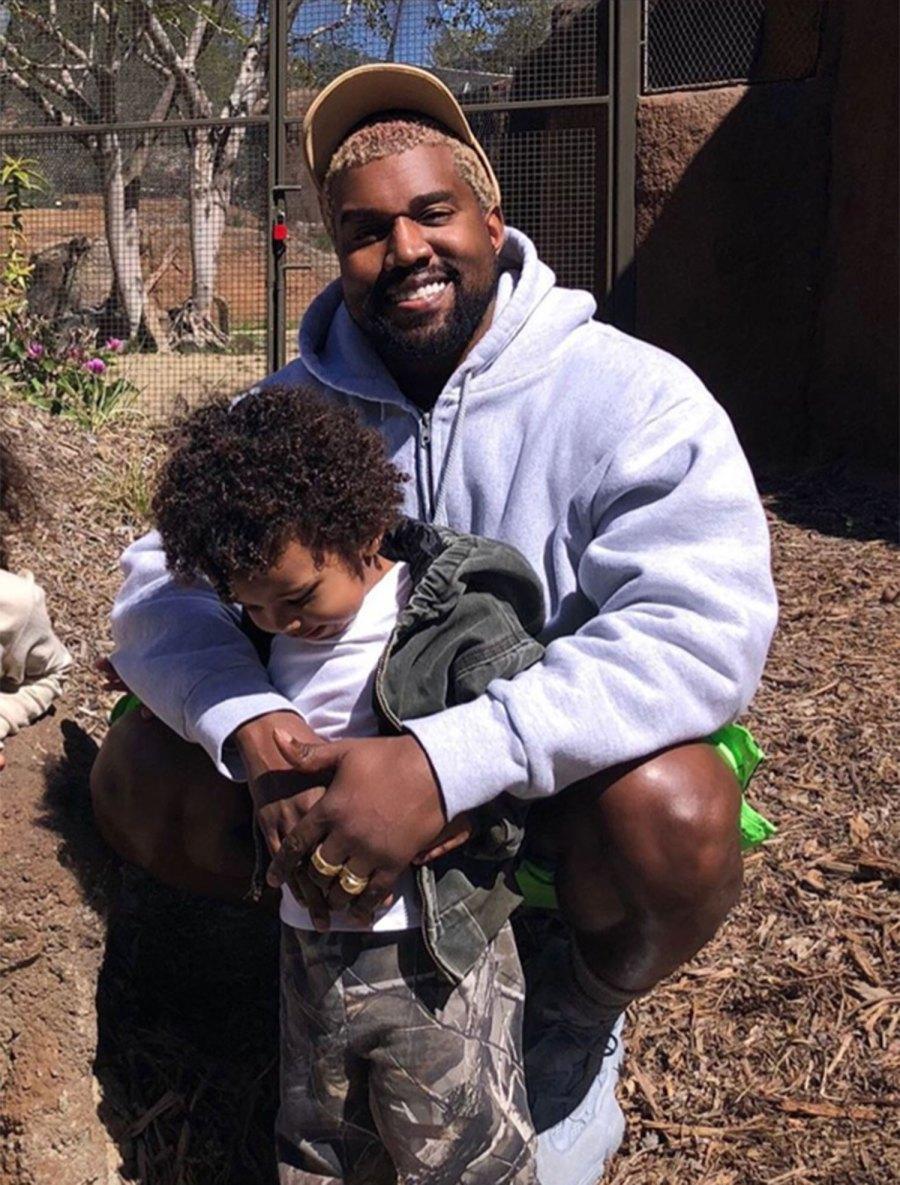 Kim Kardashian and Kanye West take North and Saint to the zoo.