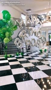 Kourtney Kardashian, Rob Kardashian, Birthday, Balloons