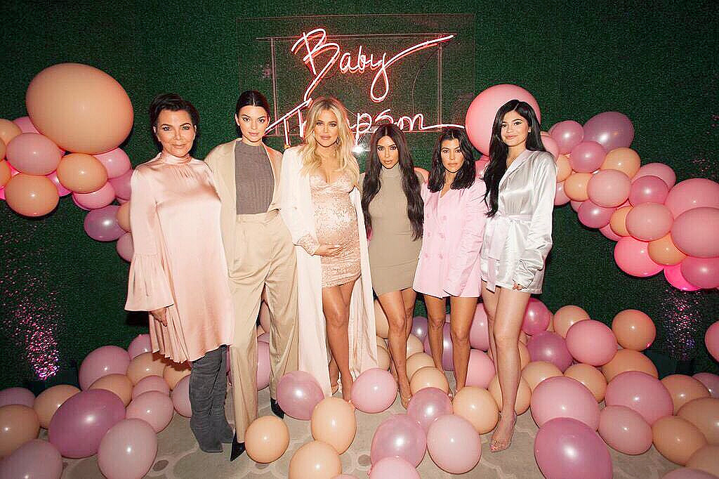 Khloe Kardashian Celebrates Baby Shower At Pink Themed Party Pics