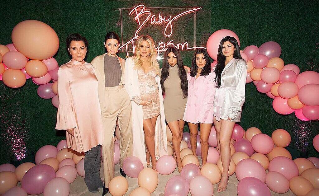 Khloe Kardashian Celebrates Baby Shower At Pink Themed Party Pics