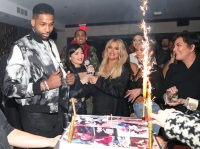 Kylie Jenner, Khloe Kardashian, Kris Jenner, Tristan Thompson, Birthday Party