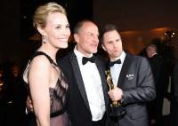 Leslie Bibb Woody Harrelson Sam Rockwell Oscars 2018 Governors Ball