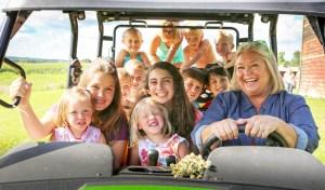 Nancy Fuller with her grandchildren