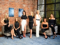 Tinsley Mortimer, Sonja Morgan, Bethenny Frankel, Ramona Singer, Dorinda Medley, Luann de Lesseps, Carole Radziwill of 'The Real Housewives of New York City'