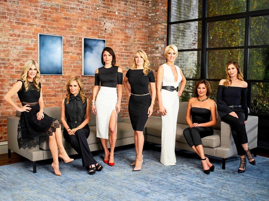 Tinsley Mortimer, Sonja Morgan, Bethenny Frankel, Ramona Singer, Dorinda Medley, Luann de Lesseps, Carole Radziwill of 'The Real Housewives of New York City'