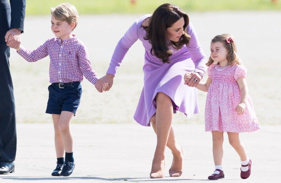 Prince George, Kate Middleton, Princess Charlotte, Pizza