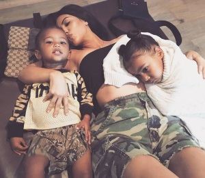 Saint, Kim Kardashian, North, West