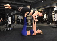 Ashley Graham and Karlie Kloss working out together