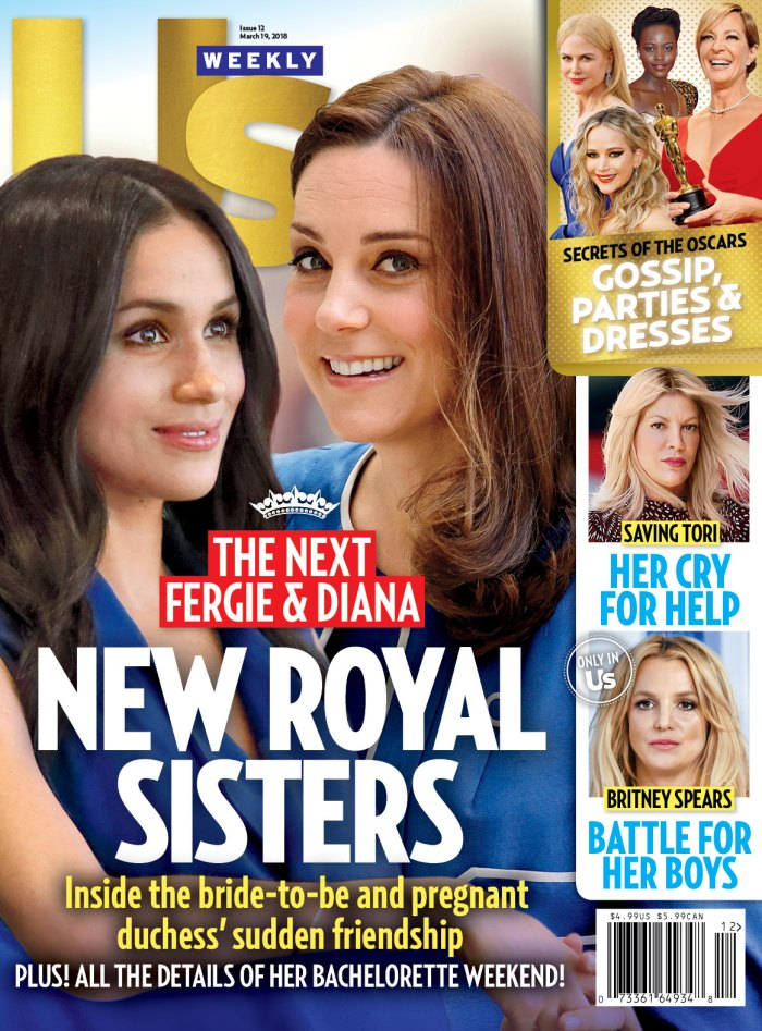 UW1218 Us Weekly cover Meghan Markle Kate Middleton