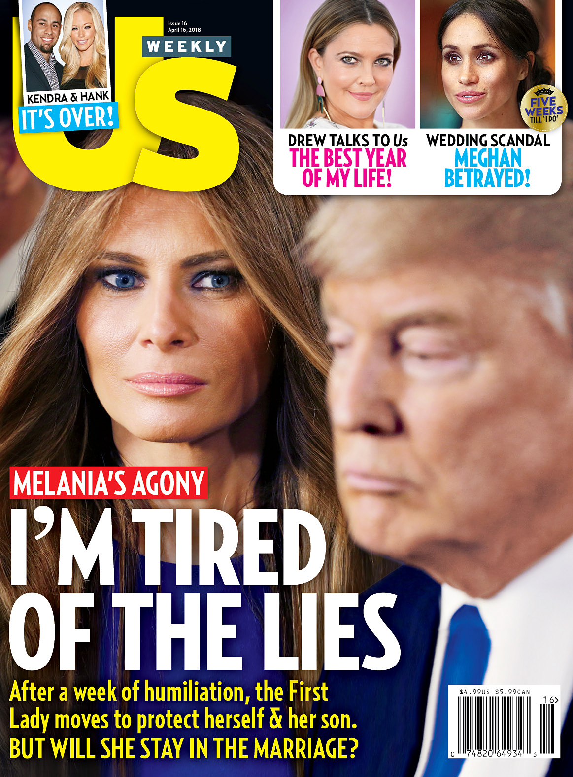 Us Weekly Cover Melania Trump Donald Trump