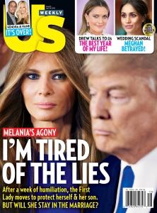 Us Weekly Cover Melania Trump Donald Trump