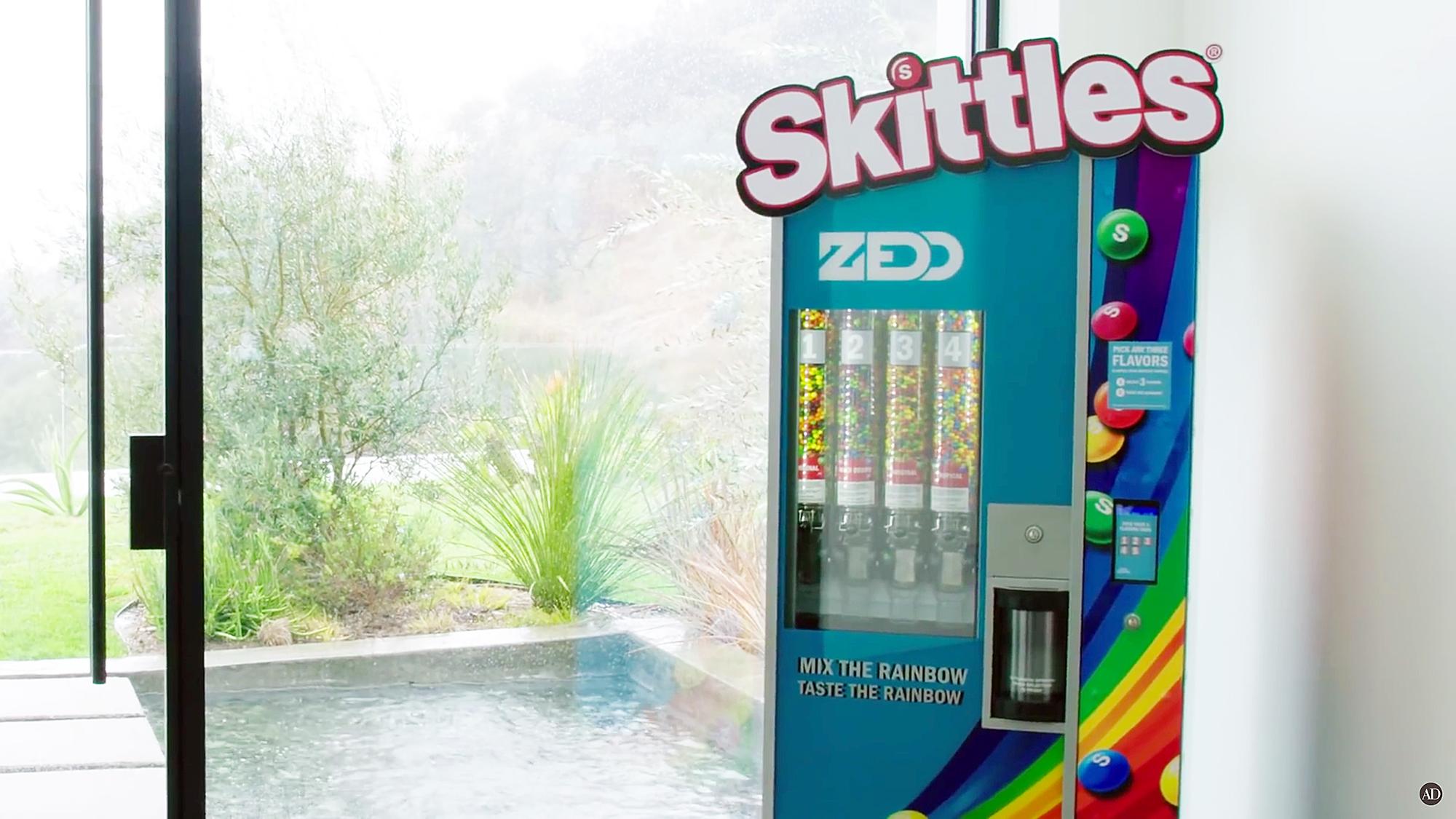Zedd Los Angeles mansion Skittles machine