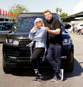 Christina Aguilera and James Corden on 'Carpool Karaoke'