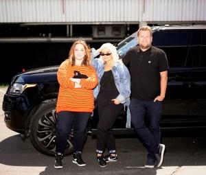 Melissa McCarthy, Christina Aguilera and James Corden on 'Carpool Karaoke'