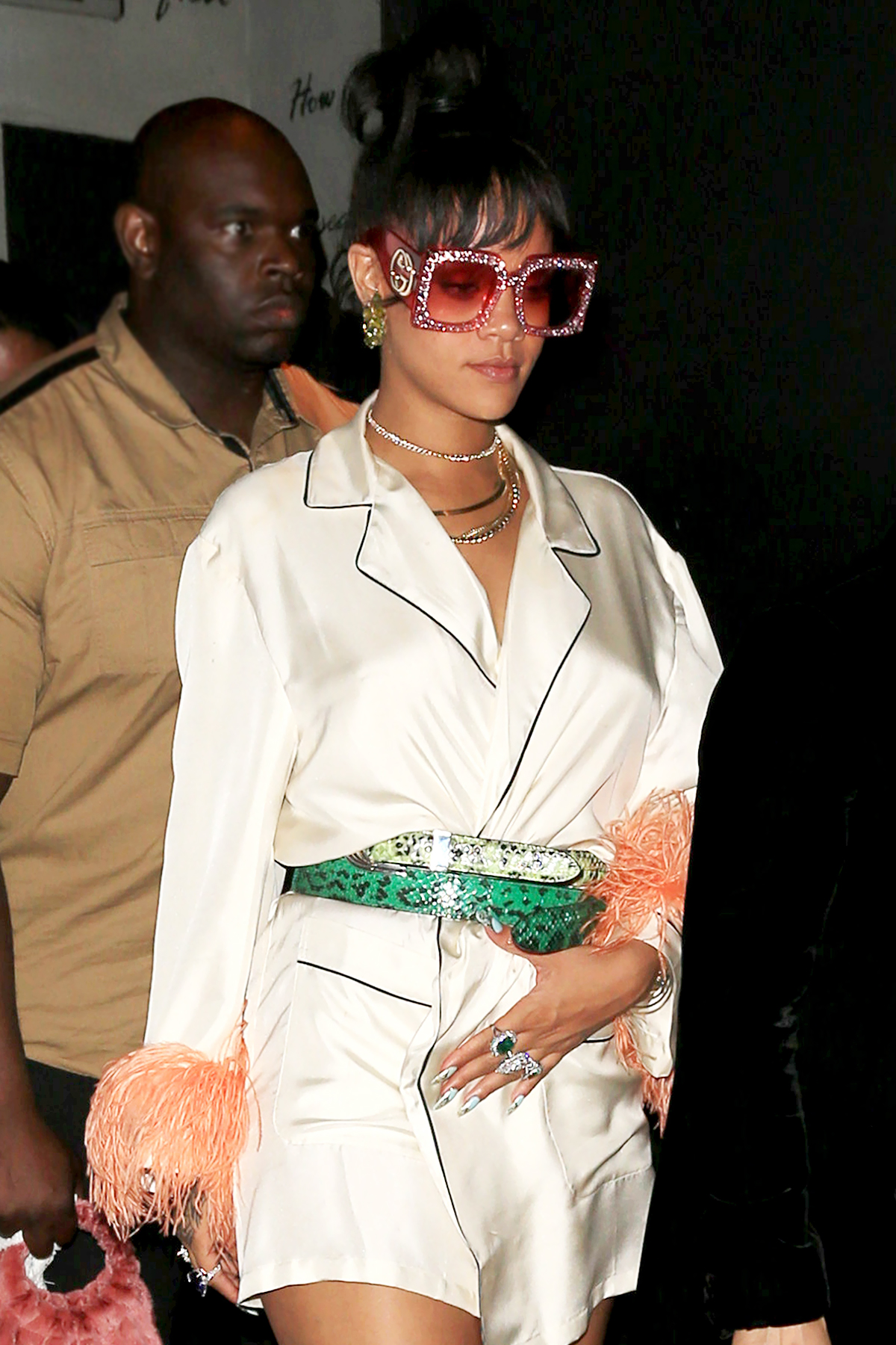 1Oak-Rihanna - Rihanna hosted a bash at the nightclub, where she was joined by stars such as A$AP Rocky , Zoë Kravitz , Bella Hadid , Kendall Jenner , Madonna and Pharrell Williams .