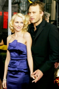 Heath Ledger and Naomi Watts attend the 10th Annual Screen Actors Guild Awards on February 22, 2004 at the Shrine Auditorium in Los Angeles, California.