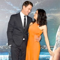 """Channing Tatum and Jenna Dewan attend the 2015 premiere of """"Jupiter Ascending"""" at TCL Chinese Theatre in Hollywood, California."""