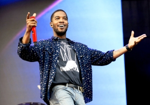Kid Cudi performs during Lollapalooza 2015 at Grant Park in Chicago, Illinois.