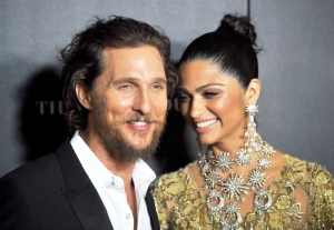 "Matthew McConaughey and Camila Alves attends The 2017 World Premiere of ""Gold"" at AMC Loews Lincoln Square in New York City."