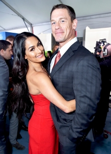 John Cena and Nikki Bella attend 2017 NBCUniversal Upfront in New York City.