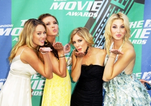 'The Hills' stars Lauren Conrad, Audrina Patridge, Heidi Montag and Whitney Port attend the 2006 MTV Movie Awards at the Sony Pictures in Culver City, California.