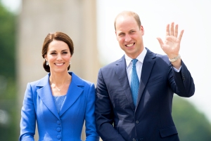Kate Middleton and Prince William visit the Brandenburg Gate during an official visit to Poland and Germany on July 19, 2017 in Berlin, Germany.