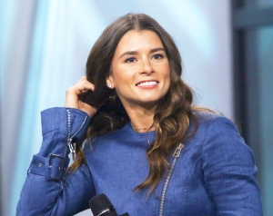 Danica Patrick visits New York City Build Studios on November 1, 2017.