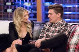 Lesley Murphy and Dean Unglert in 'The Bachelor Winter Games'