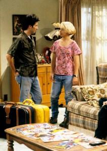 Glenn Quinn and Lecy Goranson in 'Roseanne'
