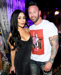 "Jenni 'JWoww' Farley and Roger Mathews attend MTV's ""Jersey Shore Family Vacation"" New York premiere party at the Dream Downtown on April 4, 2018 in New York City."
