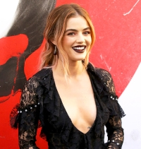 """Lucy Hale arrives to the Los Angeles Premiere of Universal Pictures' """"Blumhouse's Truth Or Dare"""" held at ArcLight Cinemas on April 12, 2018 in Hollywood, California."""