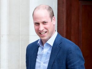 Prince William leaves the Lindo Wing at St Mary's Hospital in central London, on April 23, 2018.