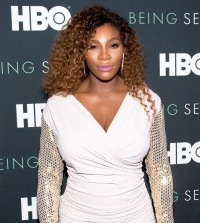 "Serena Williams attends the ""Being Serena"" New York Premiere at Time Warner Center on April 25, 2018 in New York City."