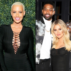Amber Rose, Tristan Thompson and Khloe Kardashian