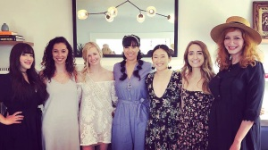 Beth Behrs, Kat Dennings, Bridal Shower, Bridesmaids