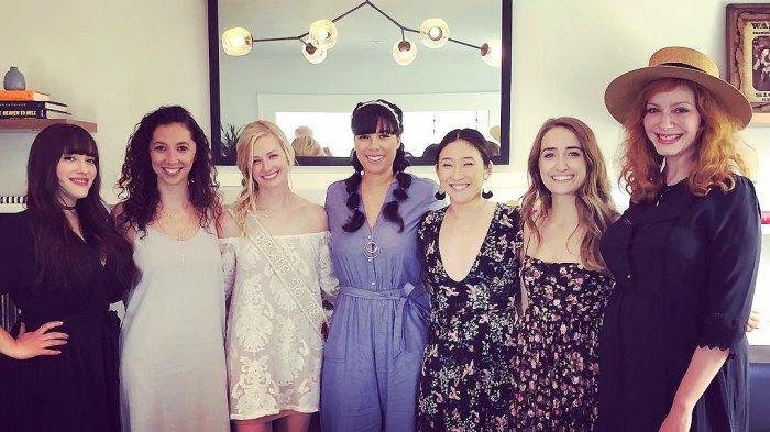 Beth Behrs, Kat Dennings, Bridal Shower, Bridesmaids