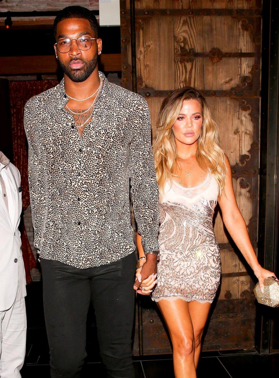 Tristan Thompson and Khloe Kardashian spotted leaving a dinner date at TAO on June 25, 2017.