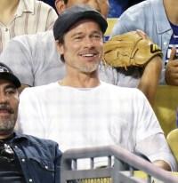 Brad Pitt Los Angeles Dodgers Game